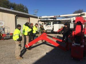 Tree crew receiving training